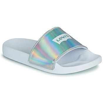 Shoes Women Sliders Levi's JUNE BATWING S Silver