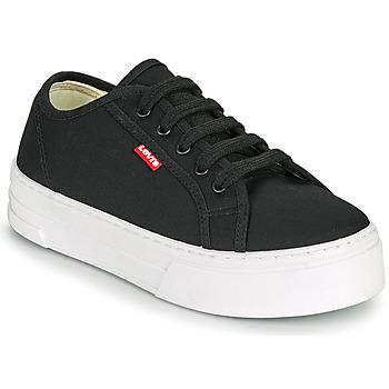 Shoes Women Low top trainers Levi's TIJUANA Black