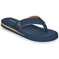 Shoes Men Flip flops Isotoner TAMARA Marine / Cognac