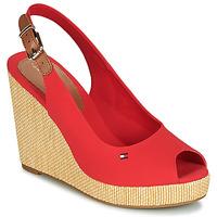 Shoes Women Sandals Tommy Hilfiger ICONIC ELENA SLING BACK WEDGE Orange