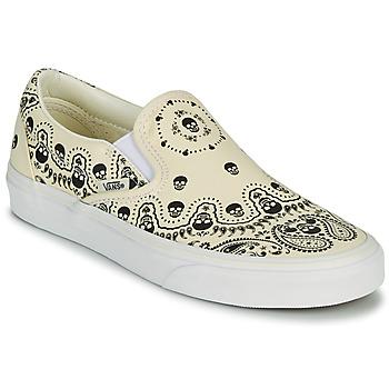 Shoes Slip-ons Vans CLASSIC SLIP ON Beige / Black