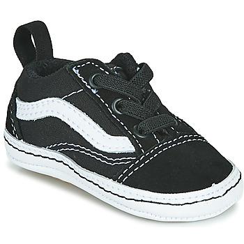 Shoes Children Low top trainers Vans OLD SKOOL CRIB Black / White