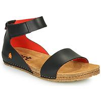 Shoes Women Sandals Art CRETA Black / Red