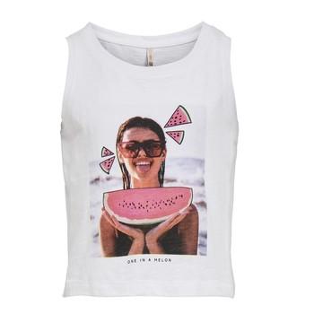Clothing Girl Tops / Sleeveless T-shirts Only KONLANA White