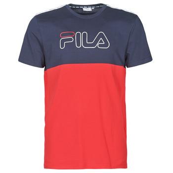 Clothing Men Short-sleeved t-shirts Fila JOPI Red / Marine