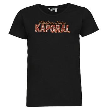 Clothing Women Short-sleeved t-shirts Kaporal PENIN Black