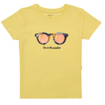 Clothing Girl Short-sleeved t-shirts Name it NMFFISUMMER Yellow