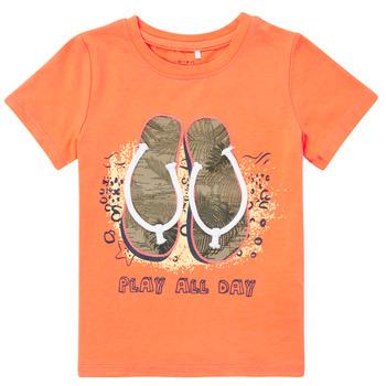Clothing Boy Short-sleeved t-shirts Name it NMMFASHO Orange
