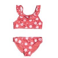 Clothing Girl Bikinis Roxy TEENY EVERGLOW CROP TOP SET Pink