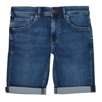 Clothing Boy Shorts / Bermudas Teddy Smith SCOTTY 3 Blue / Dark