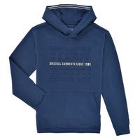 Clothing Boy Sweaters Teddy Smith S-RUN HOODY Marine
