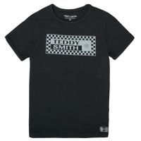 Clothing Boy Short-sleeved t-shirts Teddy Smith T-VANY Black