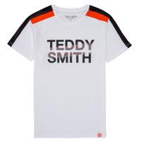 Clothing Boy Short-sleeved t-shirts Teddy Smith T-MACK White