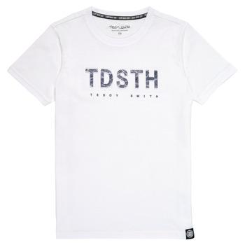 Clothing Boy Short-sleeved t-shirts Teddy Smith T-MAX White