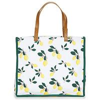 Bags Women Shopping Bags / Baskets Petite Mendigote CLEA LEMON White