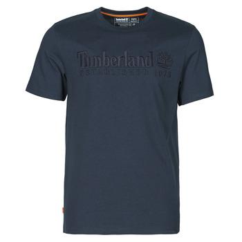 Clothing Men Short-sleeved t-shirts Timberland SS OUTDOOR HERITAGE LINEAR LOGO TEE REGULAR Marine