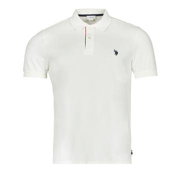 Clothing Men Short-sleeved polo shirts U.S Polo Assn. CURT POLO White