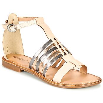 Shoes Women Sandals Kickers ETIKET Pink / Metal / Silver
