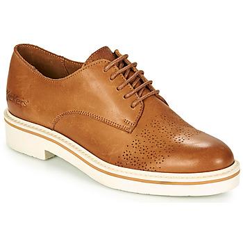 Shoes Women Derby Shoes Kickers OXFORK Camel