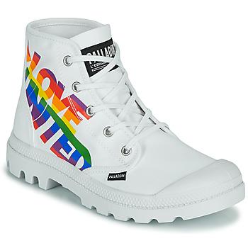 Shoes Mid boots Palladium PAMPA HI PRIDE White / Multicoloured