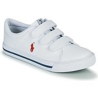 Shoes Children Low top trainers Polo Ralph Lauren ELMWOOD EZ White