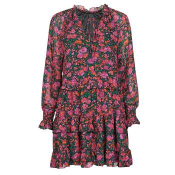 Clothing Women Short Dresses Moony Mood  Black / Pink