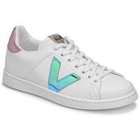 Shoes Women Low top trainers Victoria TENIS VEGANA VINI White / Blue / Pink