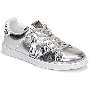 Shoes Women Low top trainers Victoria TENIS METALIZADO Silver