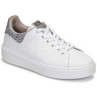 Shoes Women Low top trainers Victoria UTOPIA GLITTER White / Silver