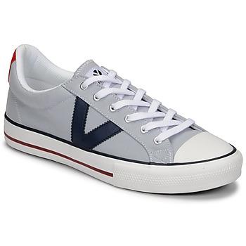 Shoes Men Low top trainers Victoria TRIBU LONA CONTRASTE Grey