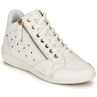 Shoes Women Hi top trainers Geox D MYRIA G White