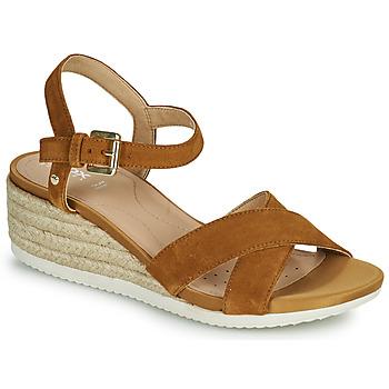 Shoes Women Sandals Geox D ISCHIA CORDA C Camel