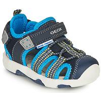 Shoes Boy Outdoor sandals Geox SANDAL MULTY BOY Blue