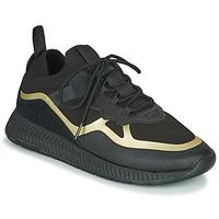 Shoes Men Low top trainers BOSS TITANIUM RUNN KNTH Black / Gold
