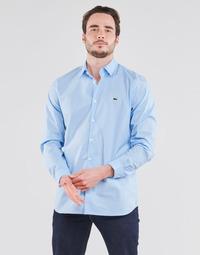 Clothing Men Long-sleeved shirts Lacoste PITTA Blue