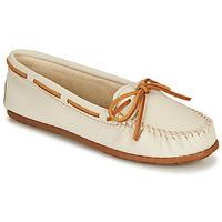 Shoes Women Loafers Minnetonka BOAT MOC White