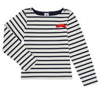 Clothing Girl Long sleeved tee-shirts Petit Bateau MAHALIA Multicolour