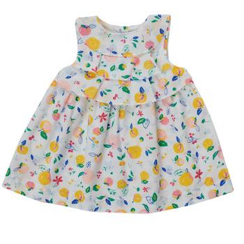 Clothing Girl Short Dresses Petit Bateau MELIANA Multicolour