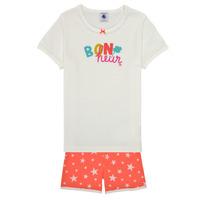 Clothing Girl Sleepsuits Petit Bateau MARSHA Multicolour