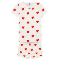 Clothing Girl Sleepsuits Petit Bateau MICOURT Multicolour