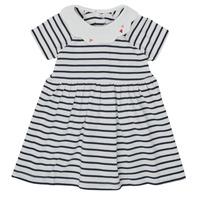 Clothing Girl Short Dresses Petit Bateau MEGHANE Multicolour