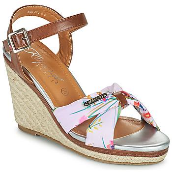 Shoes Women Sandals Kaporal MAKITA Brown / White