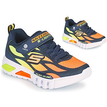 Shoes Boy Low top trainers Skechers FLEX-GLOW Marine / Orange