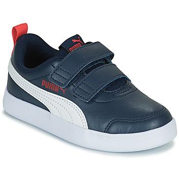 Shoes Boy Low top trainers Puma COURTFLEX PS Black