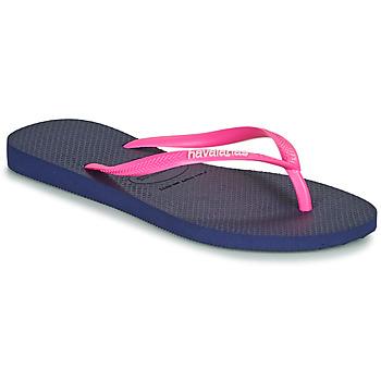 Shoes Women Flip flops Havaianas SLIM LOGO Marine