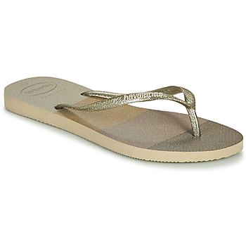 Shoes Women Flip flops Havaianas SLIM PALETTE GLOW Beige