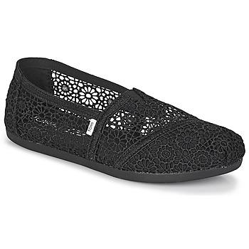 Shoes Women Espadrilles Toms ALPARGATA  black