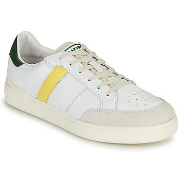 Shoes Men Low top trainers Serafini WIMBLEDON White / Green / Yellow