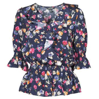 Clothing Women Shirts Lauren Ralph Lauren HELZIRA Blue / Multicolour