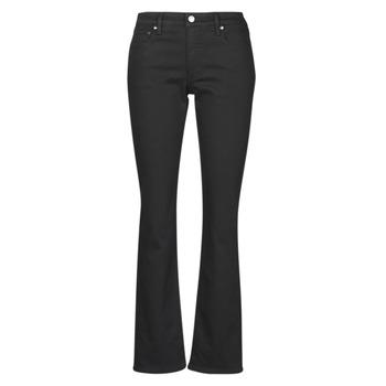 Clothing Women Straight jeans Lauren Ralph Lauren MIDRISE STRT-5-POCKET-DENIM Black